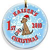 Puppy Christmas ornament design