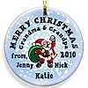 Santa Snow Christmas ornament design