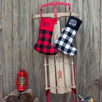Red and Black Buffalo Check Christmas Stockings