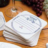 Advice for the Mr and Mrs Wedding Coasters