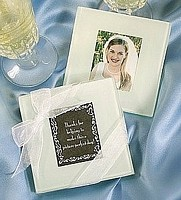 Glass Photo Coasters for Inserting Picture