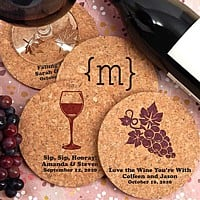 Coaster wedding favors