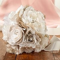 Burlap and Flower Bridal Bouquet