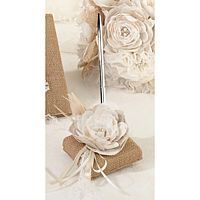 Burlap and Lace Guest Book Pen Set