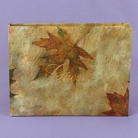 'Simply Autumn' Personalized Maple Leaf Guest Book