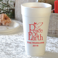 20 ounce styrofoam cups printed with your choice of design and personalization