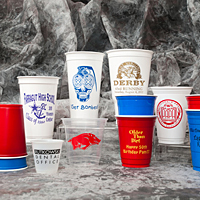Assorted personalized solo cups