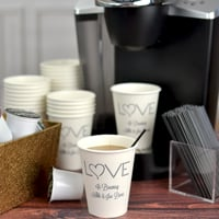 8 Oz Personalized White Paper Drink Cups