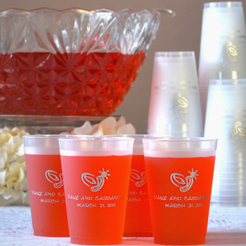 12 Oz Custom Printed Frosted Plastic Wedding Cups