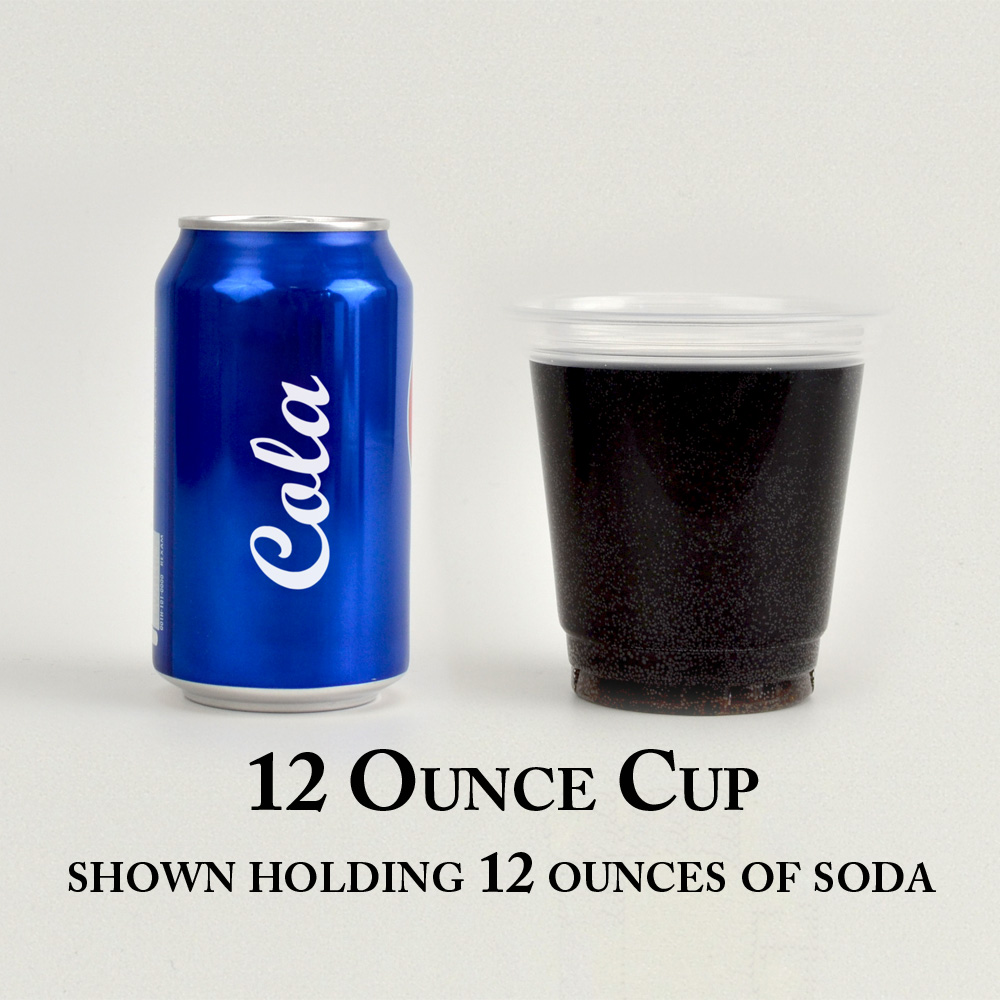 12 ounce solo cups shown holding 12 ounces of liquid
