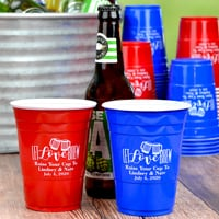 16 Oz. Personalized Solo cups for beer & soft drinks