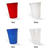 Personalized 16 Ounce solo cups available in 4 cup colors