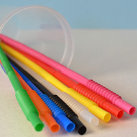 12 Inch Plastic Cup Straws in Assorted Colors