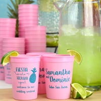 12 Oz. Custom printed plastic souvenir stadium wedding cups for punch & mixed drinks