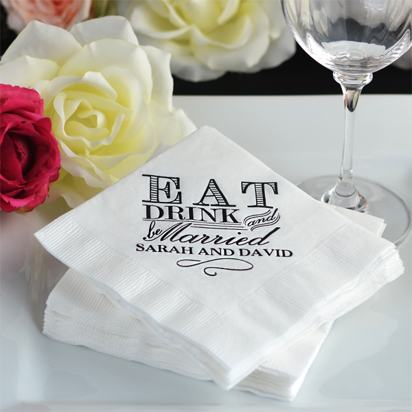 Personalized Wedding Cocktail Luncheon and Dinner Napkins