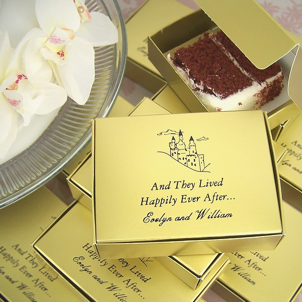 Personalized Cake Slice Favor Boxes