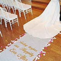 Personalize your aisle runner with up to 3 lines of custom text