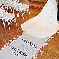 Personalized Flourish Aisle Runner