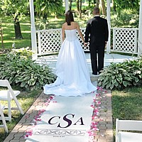 Personalized Vintage Scroll Aisle Runner