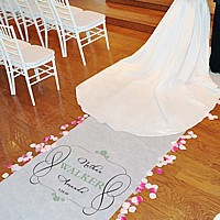 Timeless Personalized Aisle Runner
