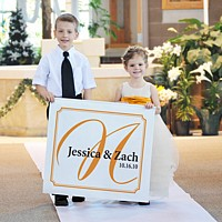 Custom printed wedding wall banners