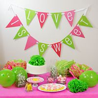 DIY kit with included CD to print off paper bunting pennant in your choice of design