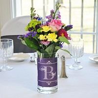 Vases and decorations for wedding table centerpieces