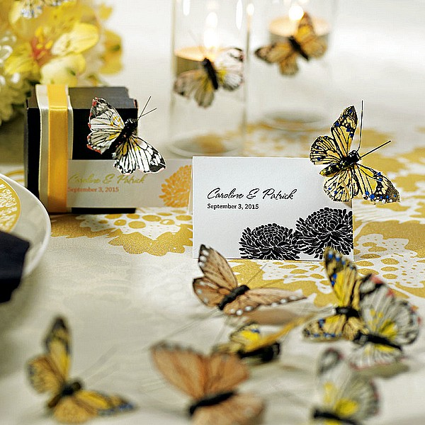 Neutral butterfly decoration accents