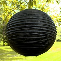 20 inch small round paper lanterns shown in black