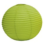 Candy apple green paper lanterns