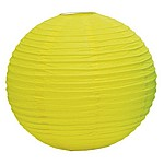 Lemon yellow paper lanterns