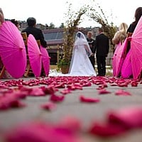 Wedding umbrellas and parasols