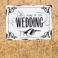This Way to the Wedding Directional Yard Sign
