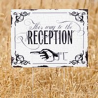 This Way to the Wedding Reception Directional Yard Sign