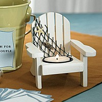 Wooden Deck Chair Candle Holders