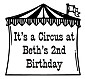 F-32 - Circus Tent Frame with Your Text Inside