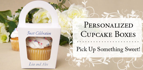 Personalized Individual Cupcake Boxes - Pick Up Something Sweet