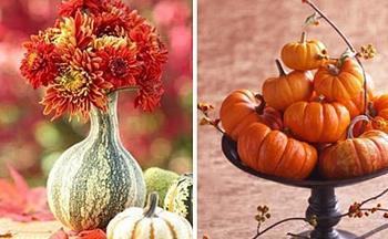 Fall pumpkin centerpieces