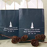 Personalized Winter 8 x 5 x 10 Gift Bags