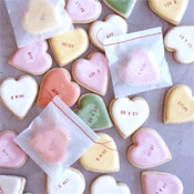 Conversation heart cookies via Martha Stewart