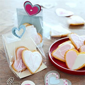 Heart shaped cookies via BHG