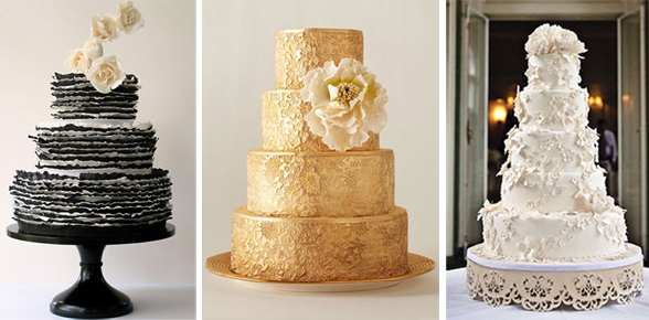 Lavish Wedding Cake and Signature Foods