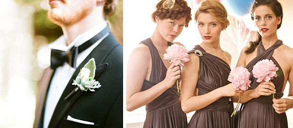 Multi-way Bridesmaids Dresses and Classy Tuxedos
