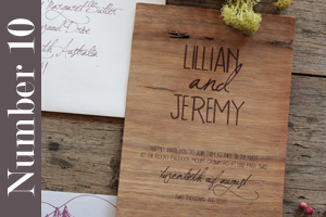 Top 10 Creative Wedding Invitations Wood Veneer For A Rustic Look Therapyboxfo Themed
