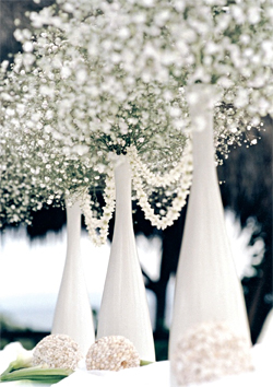 Baby's Breath Winter Wedding Centerpiece