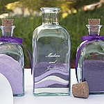 Personalized sand ceremony unity decanter candles set