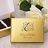 Personalized wedding cake slice favor boxes