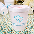 Personalized 8 oz styrofoam cups