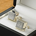 Personalized silver plated cufflinks with gift box