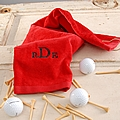 Personalized golf towel in assorted colors
